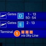 Gate-Zeichen auf Flughafen